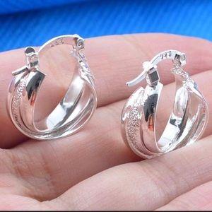 Just In! 925 Sterling Silver Hoop Dangle Earrings